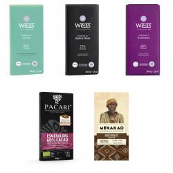 5 tablettes de chocolat noir